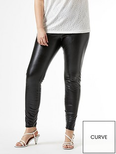 dorothy-perkins-curve-pu-leggings-ndash-black