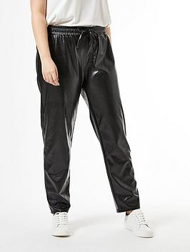 Dorothy Perkins Dorothy Perkins Curve Pu Trousers - Black Picture
