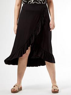 dorothy-perkins-curve-ruffle-wrap-skirt-black