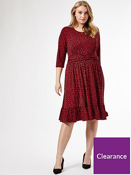 dorothy-perkins-curve-band-printed-dress-red