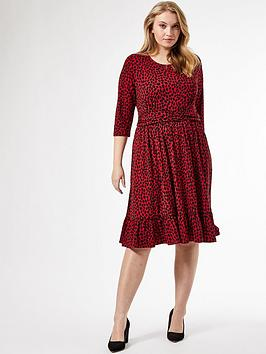 Dorothy Perkins Dorothy Perkins Curve Band Printed Dress - Red Picture
