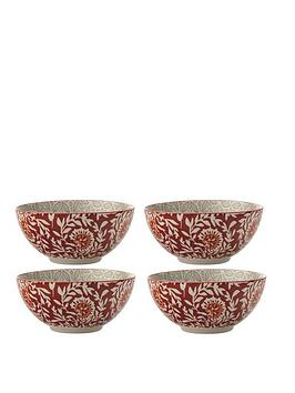 Maxwell & Williams Maxwell & Williams Boho Batik Grey Bowl - Set Of 4 Picture