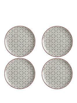 maxwell-williams-maxwell-williams-boho-batik-grey-plate-set-of-4