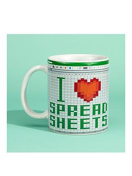 Very I Love Spread Sheets Mug Picture