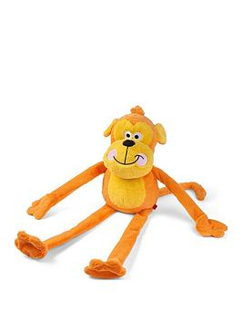 Zoon   Jumbo Cheeky Monkey Plush Dog Toy