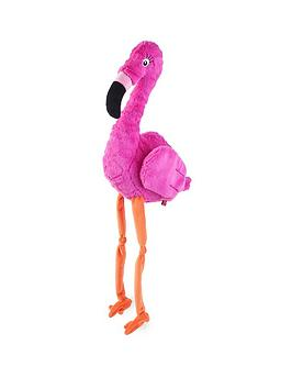 Zoon Zoon Pink Flamingo Plush Dog Toy Picture