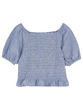 Mintie by Mint Velvet Mintie By Mint Velvet Girls Chambray Stripe Top -  ... Picture