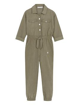 Mintie by Mint Velvet Mintie By Mint Velvet Girls Jumpsuit - Khaki Picture