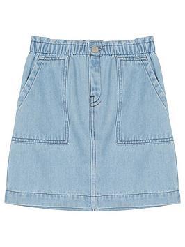 Mintie by Mint Velvet Mintie By Mint Velvet Girls Paperbag Denim Skirt -  ... Picture