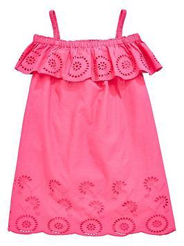 v-by-very-girls-broderie-strappy-bardot-dress-pink
