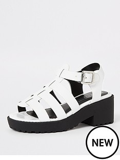 river-island-girls-clumpy-caged-sandal--white