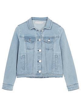 Mintie by Mint Velvet Mintie By Mint Velvet Girls Washed Blue Denim Jacket  ... Picture