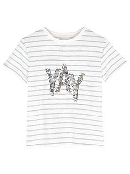 Mintie by Mint Velvet Mintie By Mint Velvet Girls Yay Sequin T-Shirt -  ... Picture