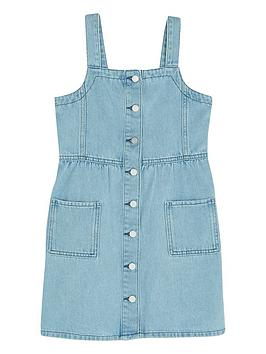 Mintie by Mint Velvet Mintie By Mint Velvet Girls Washed Blue Denim Dress - Blue