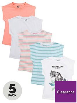 v-by-very-girls-5-pack-tie-tops-multi