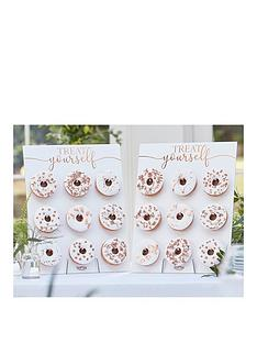 ginger-ray-rose-gold-double-donut-wall-birthday-cake-alternative