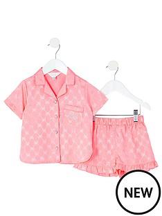 river-island-mini-girls-rvr-satin-pyjama-set-pink