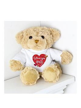 Very Personalised I Love You Teddy Bear Picture
