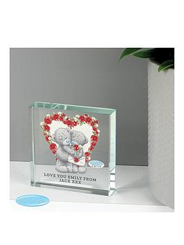 Very Personalised Me To You Heart Crystal Token Picture