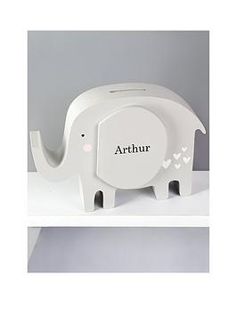 Very Personalised Elephant Money Box Picture