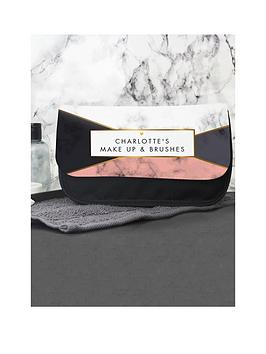 Very  Personalised Geometric Marble Make Up Bag