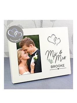 Personalised Mr & Mrs Wedding Light Up Frame