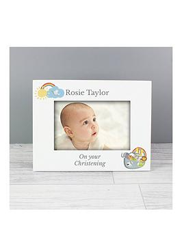 Very Personalised Noahs Ark Christening Photo Frame Picture