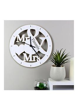 Very Personalised Mr & Mrs Clock Picture
