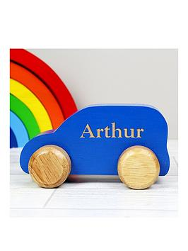 Very Personalised Wooden Toy Car Picture