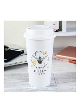 Very Personalised Busy Bee Travel Mug Picture