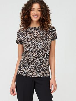 V by Very V By Very All Over Printed T-Shirt - Animal Picture