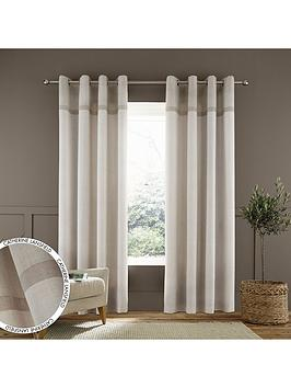 catherine-lansfield-melville-woven-texture-eyelet-curtains