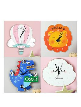Very Personalised Children'S Shaped Clock Picture