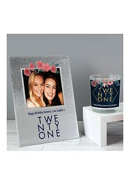 Very Personalised Birthday Photo Frame And Scented Candle Picture