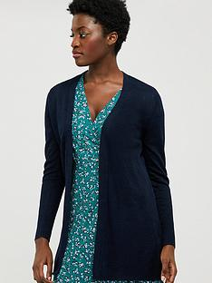 monsoon-emilia-100-linen-cardigan-navy