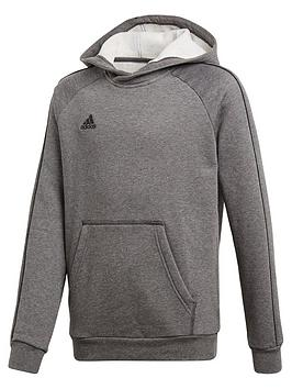 Adidas Adidas Youth Core 18 Sweat Hooded Tracksuit Top - Grey Picture