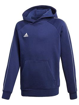 Adidas Youth Core 18 Sweat Hooded Tracksuit Top - Navy