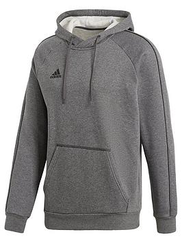 Adidas   Core 18 Sweat Hooded Tracksuit Top - Grey