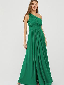 Monsoon Monsoon Dani One Shoulder Maxi Dress - Green Picture