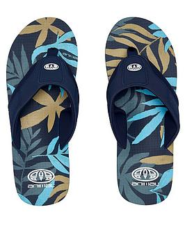 Animal Animal Jekyl Printed Flip Flops - Indigo Blue Picture