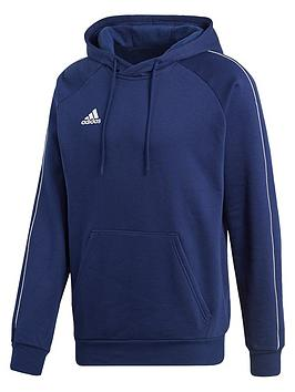 Adidas    Mens Core 18 Sweat Hooded Tracksuit Top