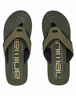 animal-jekyl-logo-too-flip-flops-olive-green