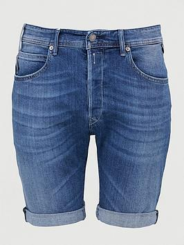 Replay Replay Waitom Denim Shorts - Mid Blue Picture