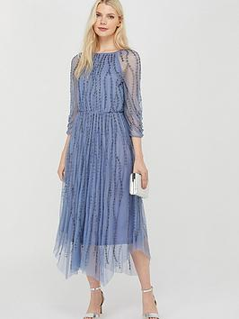 Monsoon Monsoon Lenamist Sustainable Hanky Hem Dress - Blue Picture