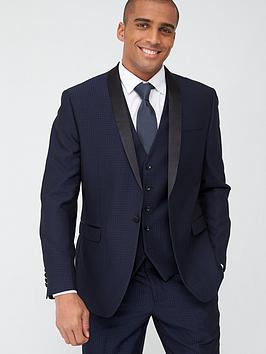 Skopes Skopes Tailored Ferry Jacket - Navy Jacquard Weave Picture