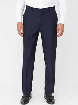 Skopes Skopes Tailored Ferry Trousers - Navy Jacquard Weave Picture