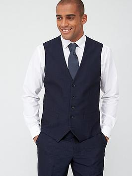 Skopes Skopes Standard Ferry Waistcoat - Navy Jacquard Weave Picture