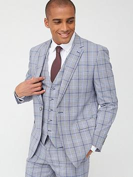 Skopes  Tailored Stark Jacket - Grey/Blue Check
