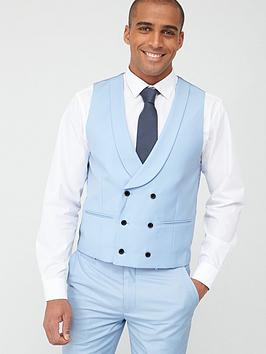 Skopes Skopes Double Breasted Sultano Waistcoat - Sky Blue Picture