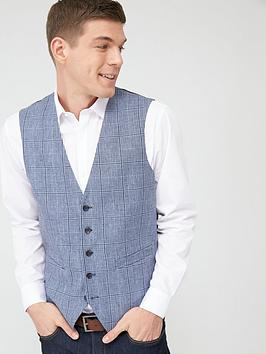 Skopes Skopes Standard Jardins Waistcoat - Blue Check Picture